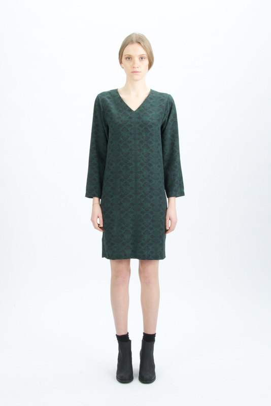 Printdress green
