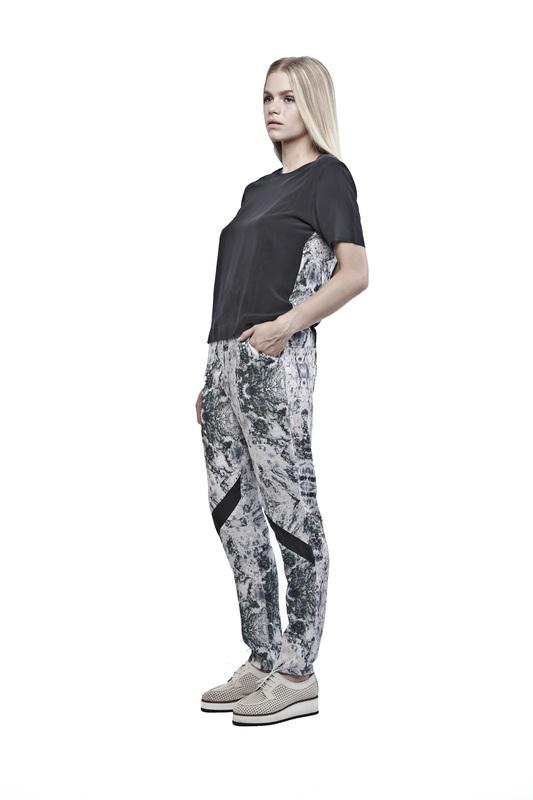 Printpleatpants trousers